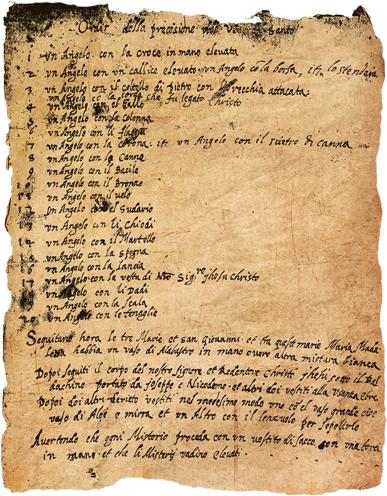 documento XVI secolo