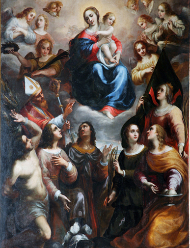 pala d'altare olio su tela